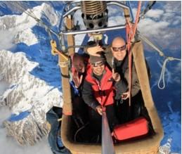 Volo in mongolfiera sorvolo delle alpi