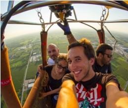 Salfi su una delle nostre Mongolfiere in Toscana durante un volo