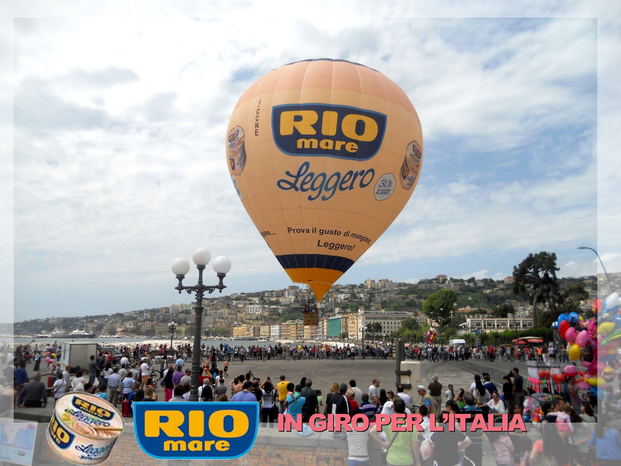 Noleggio mongolfiere per eventi come Rio Mare
